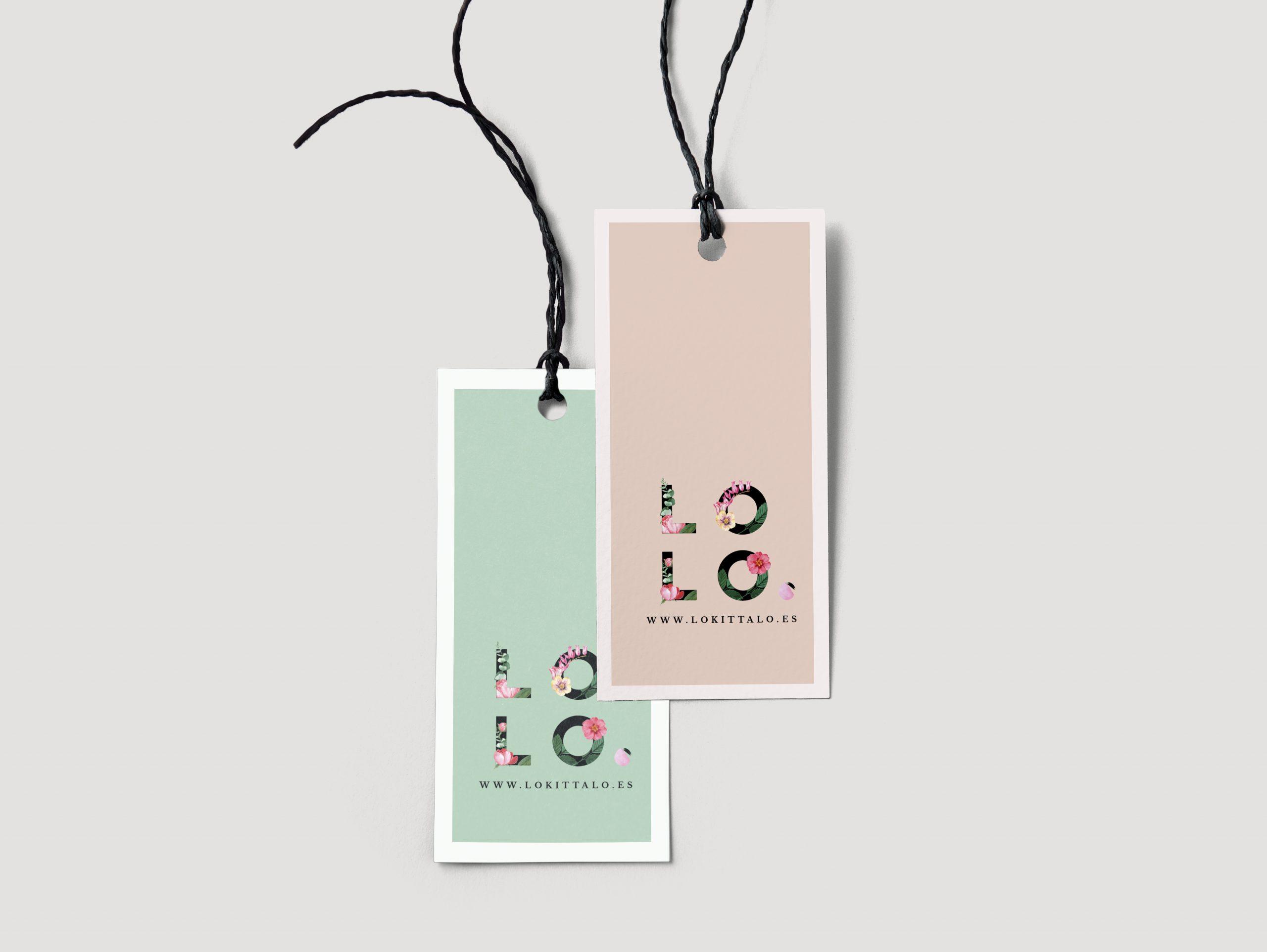 pair of fashion label tags logo design by Pau Vitti
