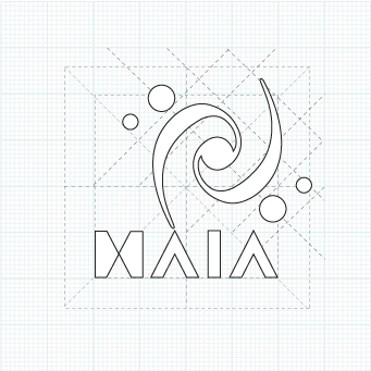 maia logo design by Pau Vitti